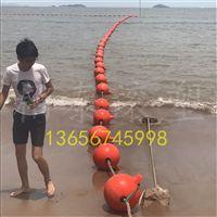 圆柱体水库围栏浮筒 水深警示浮体 海湾浴场警示浮标